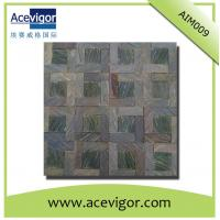 China Rustic antique solid wood mosaic wall tiles for crafts decoration wholesale