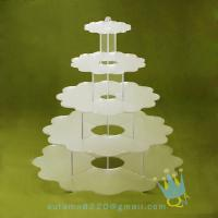 China CD (94) 5 tier acrylic wedding cake stands wholesale