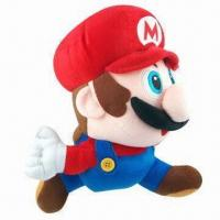 China 12-inch Running Mario Plush Toy, AVailable in Red wholesale