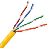 China Solid Copper high speed utp cat5e cable Lan cable 4 Pair Twisted Pair Copper Cable on sale