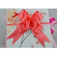 China Rose Printed or Heart logo Pull bow for Holiday and valentaine day gift packing wholesale