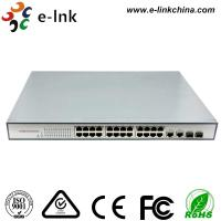 China 24-Port 10 / 100M Ethernet Switch with 2 Gigabit TP / SFP Combo Ports wholesale