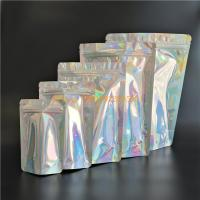 China Holographic Stand Up Foil Pouches Aluminium Foil Mylar Ziplock For Gifts / Cosmetics wholesale