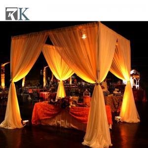 China aluminum pole telescopic backdrop pipe and drape wedding fabric backdrop on sale