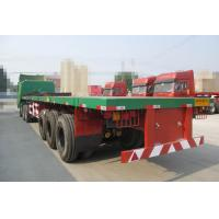 China 28T Jost Landing Gear Flatbed Semi Trailer with three FUWA Brand Axles wholesale