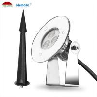 China Waterproof IP68 Outdoor Led Pin Lights , 24V 3W LED Recessed Pin Light For Park Garden wholesale