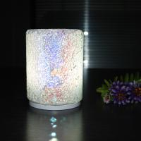 China 90*120mm size Cylinder Blue Crazing Intelligent Convex Charging Glass Material Colorful Housing LED Table Lamp. wholesale