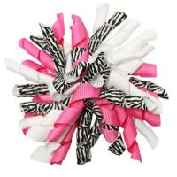 "Quality Colorful 4.5"" Grosgrain with dot Curly Ribbon bow for  Korker Hair Bow Clips for sale"