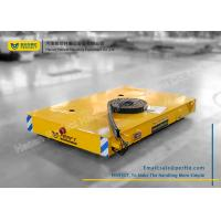 Armored Line Powered Workshop Rail Transfer Cart / Industrial Material Handling Carts