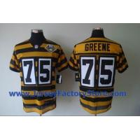 China Nike Pittsburgh Steelers 75 Greene Yellow 80TH Throwback Jersey wholesale
