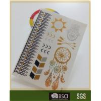 China Water Proof Custom Color Temporary Gold Foil Tattoo Flash Tattoo Stickers wholesale