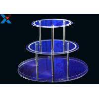 China Round 3 Layers Acrylic Display Stands For Wedding Environmental And Recyclable wholesale