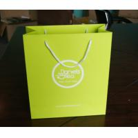 China Custom Designed Green Kraft Paper Bags With Cotton Handle Tea Packaging Bag wholesale