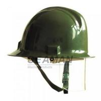 China Custom Marine Fire Fighting Helmet / Firefighter Rescue Helmet With Face Mask wholesale
