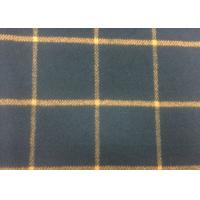 China 50% Wool Navy / Orange Tartan Plaid Fabric Fashionable For Fall / Winter wholesale
