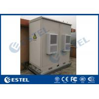 China Weatherproof IP55 Two Compartment Base Station Cabinet With Aircon Cooling System wholesale
