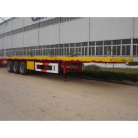 China 3 Axles 40ft Flat Bed / Skeleton Container Chassis Semi Trailer for Sale wholesale