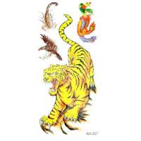 China New Temporary Tattoos Vivid Tigers Pattern Design on sale