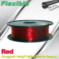 China TPU Flexible 3d Printing Filament 1.75 / 3.0 mm  Red and Transparent wholesale