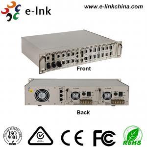China Centralized Manageable Ethernet Fiber Media Converter , 16 Slots Fiber Optic Media Converter wholesale