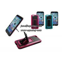 China Hot Iphone6 mobile phone case with holder, mobile phone case cover with phone stand wholesale