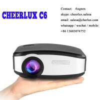 China CHEERLUX C6 mini projector HD Native 800*480 1200 lumens led lcd best for home theater wholesale