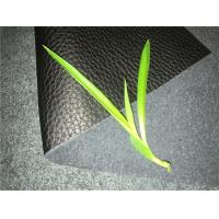 China Man made genuine leather with black color 30meters length 54inches width wholesale