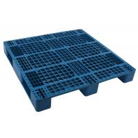 China 1200*1000 HDPE Durable 4-way folklift  Injection molded Plastic shipping Pallet with single face racking loading 1000kg wholesale