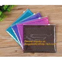China Mini small pouches ziplock bags with slider zip plastic bags zipper bubble mailers with laser film/custom design bagease wholesale