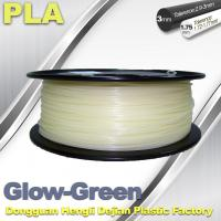 China 1.75mm / 3.0mm PLA Filament Glow in Dark Green for 3D Printer MakerBot , RepRap and UP wholesale
