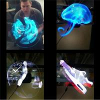 China Electronic Hologram Projector 3D LED Holographic Advertising Display Fan 42cm Diameter wholesale