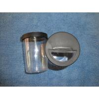 China Rotating Black Lid 200ml Plastic Clear Glitter Container on sale