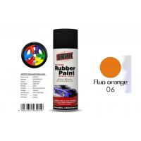 China 400ml Rubber Coat Spray Paint With Fluo Orange Color APK-8201-6 wholesale