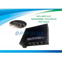 China 10/100Mbps Power Over Ethernet POE 5 Port Gigabit 1310nm 20KM 18dBm UTP cable on sale