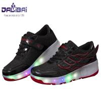 Quality New fashion 7 color USB charging led light up kids roller shoes for sale
