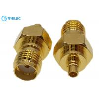 China MMCX Male Connector Fo SMA Female Straight Golden  Adapter For Car Radio Aerial Antenna on sale