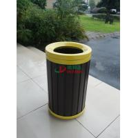 China Waterproof Round WPC Composite Trash Cans Rot Resistance Φ390 X 660mm Customized wholesale