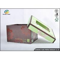 China Brown Foldable Cardboard Gift Boxes With Lids Matt Varnish Surface Finishing wholesale
