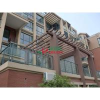 Quality Plastic Wood Prefabricated Wall Mounted Pergola Moisture Resistance Environmental Friendly for sale