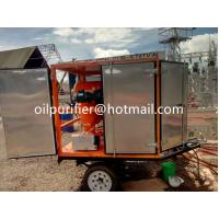 China Mobile OutdoorType Transformer Oil Purifier, Mobile Vacuum Oil Treatment Plant With Trailer Fully-enclosed, oil filt wholesale