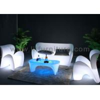 China Two Seats Rechargeable LED Light Sofa PE Housing And Color Changeable Lighting wholesale