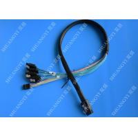 China Internal SFF 8087 To SATA SAS Serial Attached SCSI Cable 75cm With Sideband SGPIO wholesale