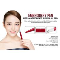 China OEM Light Red Hand Tool Manual Tattoo Pen Permanent Eyebrow Microblading wholesale