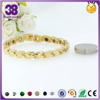 China 316L Stainless Steel Full Gold Bio Element Rosary Bracelet,freely laser your logo wholesale