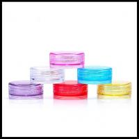 China Round Plastic Cosmetic Cream Jar Small Make Up Cotainers Colorful 2g Capacity on sale