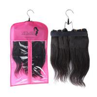 China Custom pvc hair extensions carrier hair extension hanger bags.Size 29CM*65CM.Material is PVC and  woven wholesale