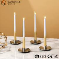 China Battery - powered Flameless LED Taper Candles With silver painted wholesale