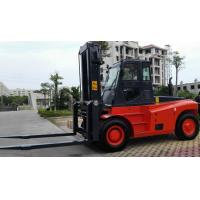 China Red Color Diesel Forklift Truck 13 Ton Energy Saving Turning Radius 5800 Mm wholesale