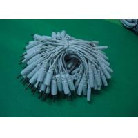 China 2.0mm Pin Connection Pig Tail / Tens Electrodes Cable Use With Electrode Pads, White Tens Lead Wires wholesale