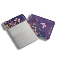 China Elegant Cosmetic Compact Mirror With Beautiful Colorful Pouch 95*62mm on sale